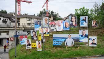 Die CVP wollte neue Regeln für die Plakatwälder vor Wahlen einführen, scheiterte allerdings.