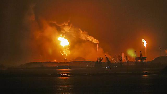 Feuerinferno in chinesischer Chemiefabrik