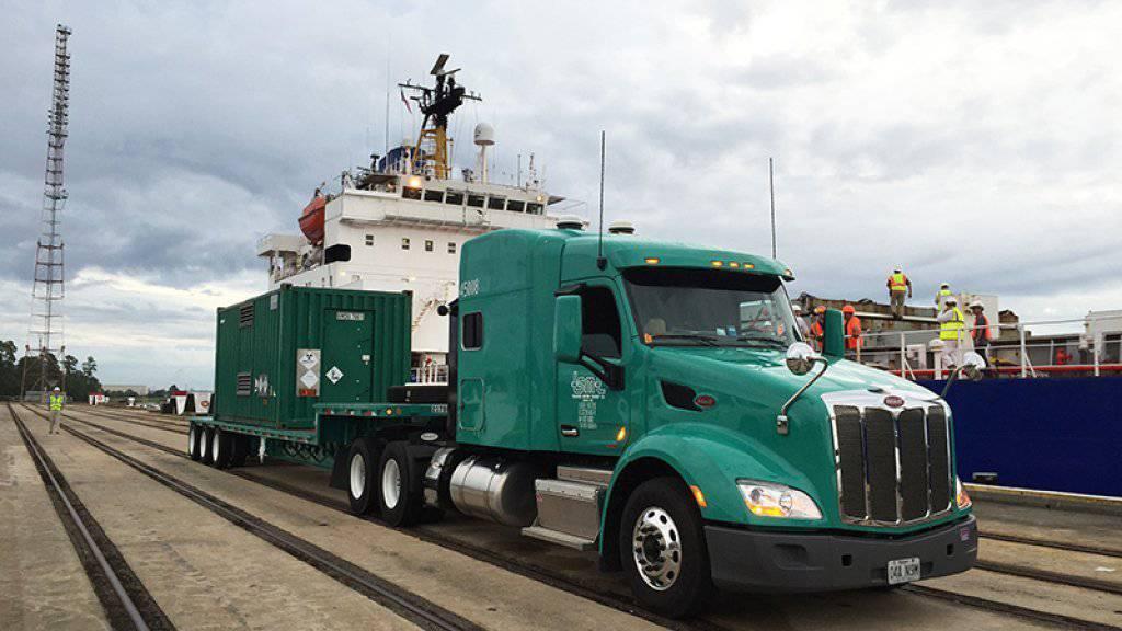 Ausgediente Basler Uran-Brennstäbe auf dem Weg nach Savannah River