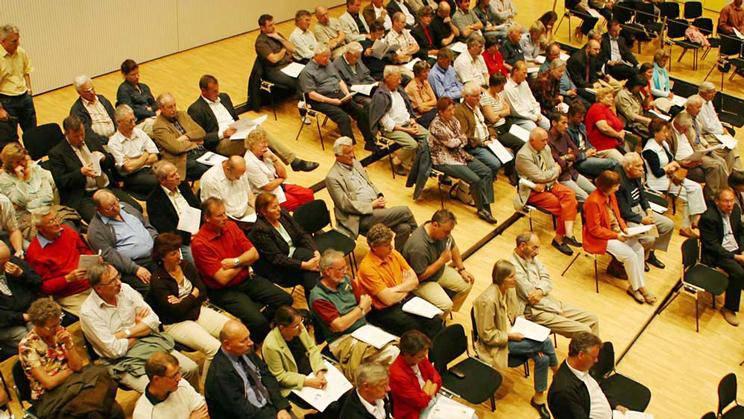 Gemeindeversammlung (auf dem Foto: Meggen)