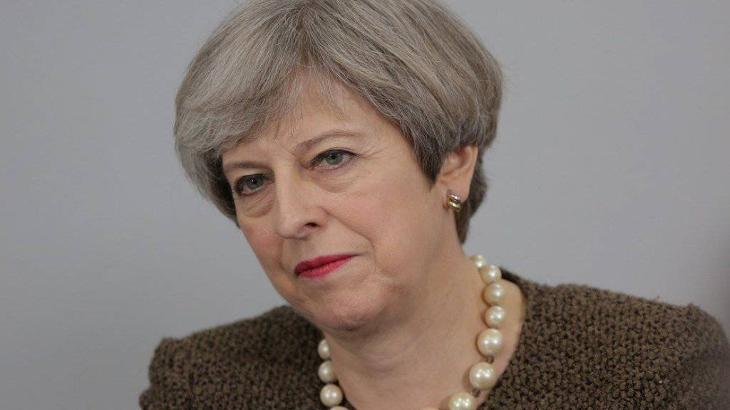 Die britische Premierministerin Theresa May - hier am Montag in London - will am 29. März der EU die Austrittserklärung Grossbritanniens überreichen.