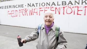 Louise Schneider sorgte zum Start der Unterschriftensammlung mächtig für Wirbel.