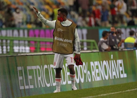 """Am letzten Mittwoch in Lissabon: Ansu Fati kommt im Länderspiel gegen sein zweites """"Heimatland"""" Portugal nicht zum Einsatz."""