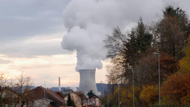 Ein Anblick, der in der Region Basel noch nie besonderes viele Anhänger hatte: das vor sich hindampfende AKW Leibstadt.  BZ-Archiv