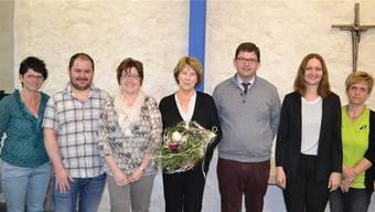 Der Vorstand der Spitex Wolfwil-Fulenbach-Kestenholz (v. l.): Heidi Ris (Einsatzleiterin), Daniel Meier, Karin Kissling-Müller (Vizepräsidentin), Elisabeth Kissling (Präsidentin), Urs Ackermann, Karin Jäggi und Daniela Mooser.
