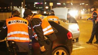 Polizeikontrolle bei Autobahneinfahrt im Raum Basel-Stadt (Archiv)