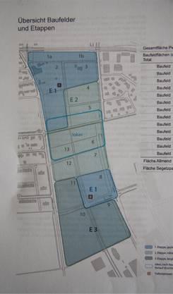 Die Baufelder, die sich beidseitig entlang der Westumfahrung gruppieren. egs/ww