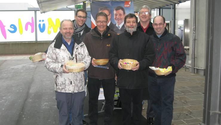 Bild: Paul Erni, Fabian Gloor, Roland Fürst, Roland Heim, Volker Nugel und Bruno Locher (von links nach rechts)