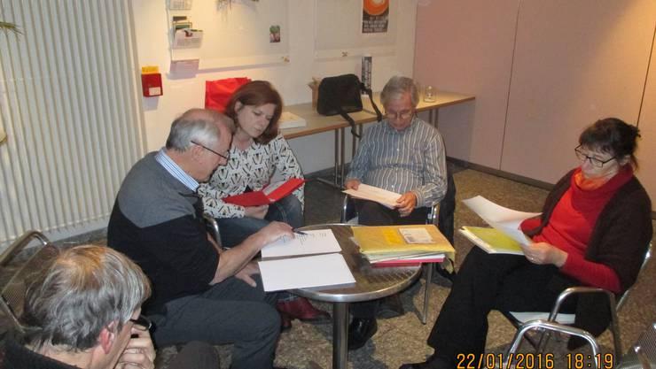 Kurze Vorstands-Besprechung vor der DV