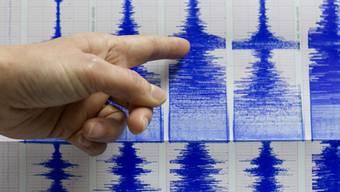 Seismograf erfasst Erschütterungen eines Erdbebens (Symbolbild)