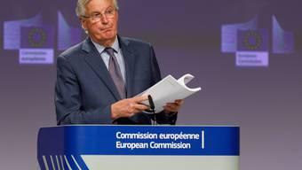 Nach seiner Covid19-Erkrankung leitet EU-Chefverhandler Michel Barnier wieder die Brexit-Gespräche. (Bild:: Keystone)