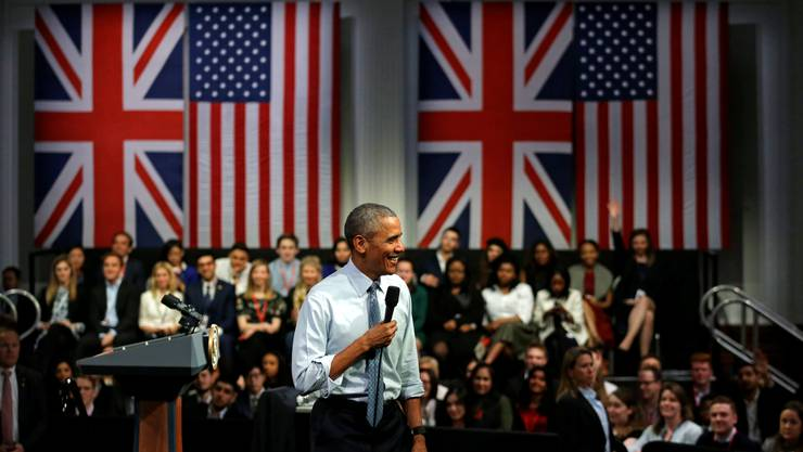 Barack Obama in der  Lindley Hall.