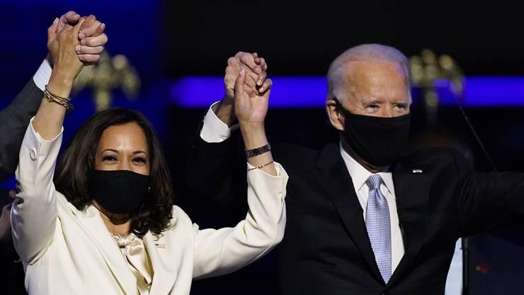 Kamala Harris und Joe Biden sind die strahlenden Sieger der US-Präsidentschaftswahl.