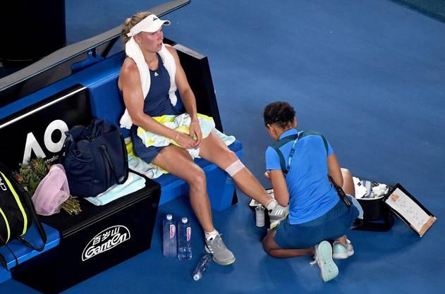Nicht nur Halep war Wozniackis Gegnerin, auch die Hitze und körperliche Beschwerden.