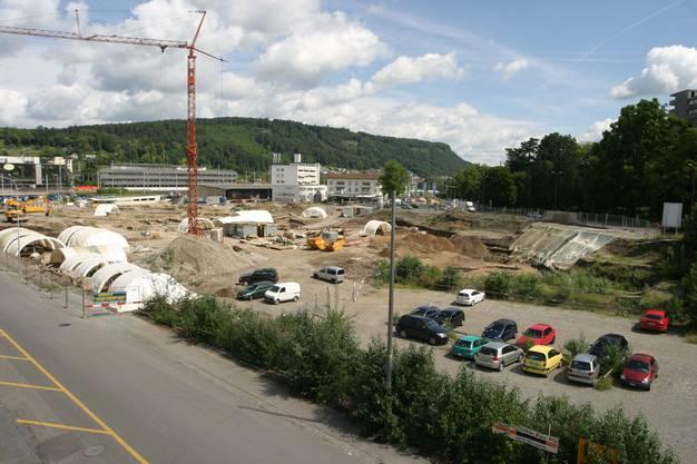 Baueingabe für das neue Fachhochschulgebäude auf dem ehemaligen Areal Markthalle in Brugg Windisch. Campus Fachhochschule Nordwestschweiz Vision Mitte FH