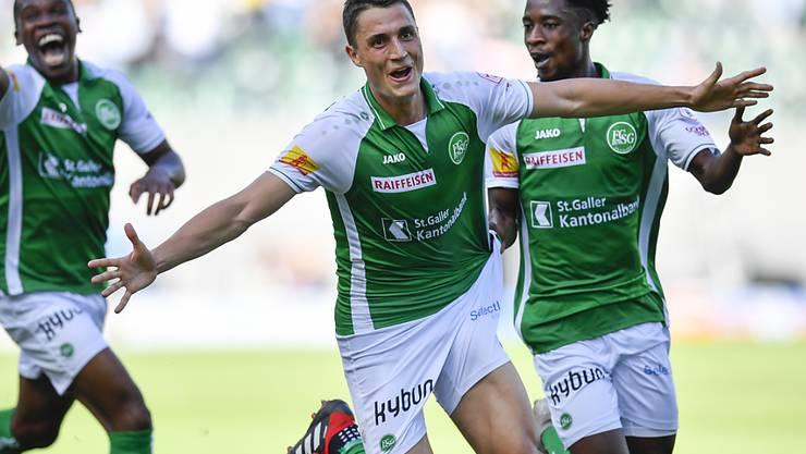 Vincent Sierro jubelt in Zukunft nicht mehr mit St. Gallen, sondern mit den Young Boys