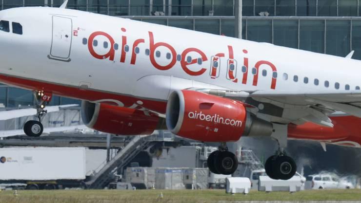 Airberlin will ihre Schweizer Tochtergesellschaft Belair liquidieren. Die Mitarbeitenden sollen für ein Jahr weiterbeschäftigt werden. (Archivbild)