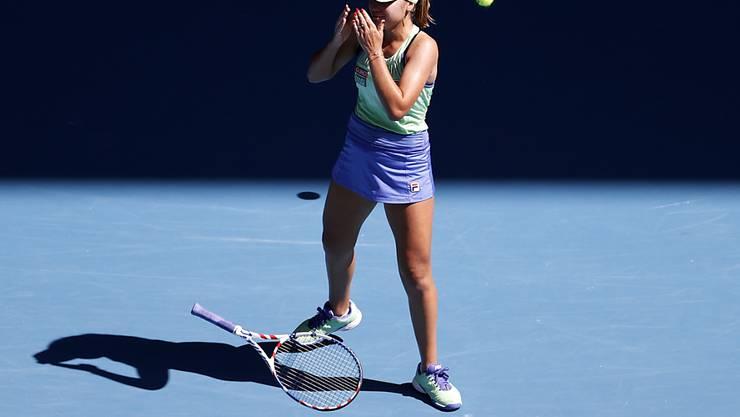 Der Moment ihres grössten Erfolgs: Sofia Kenin verwertet ihren zweiten Matchball gegen Ashleigh Barty