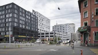 Die Ecke Langstrasse/Lagerstrasse vor der Umbauten. (Archiv)