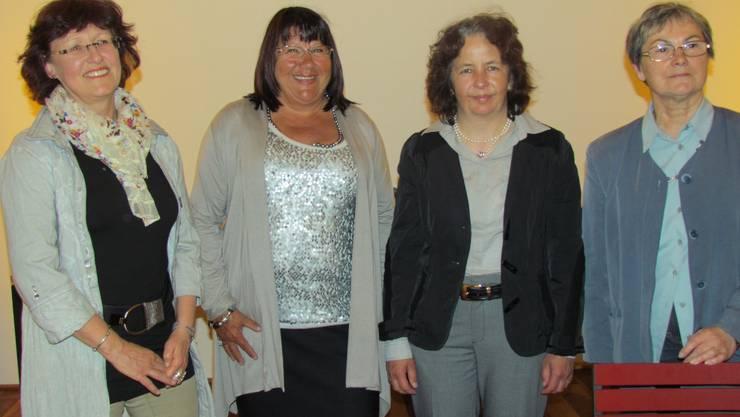 Der Vorstand der FDP Frauen Freiamt: Vally Stäger, Ursula Gehrig (Präsidentin), Andrea Moll, Renée Schneider (ehemalige Kassierin). Foto: ak