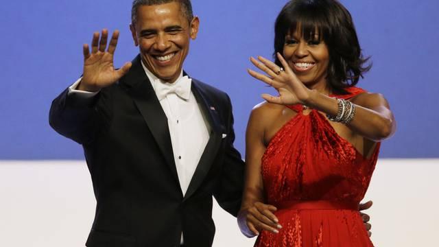 Verkauften weniger Bücher: Barack und Michelle Obama (Archiv)