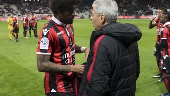 Torschütze Dante und Trainer Favre im Gespräch: wieder kein Sieg für Nice