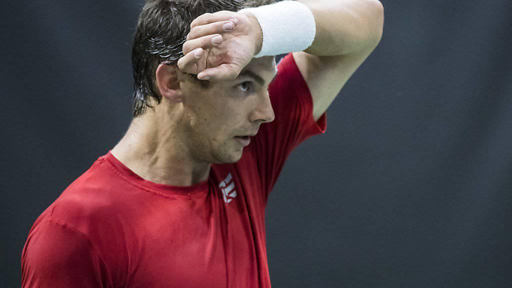 Henri Laaksonen musste sich trotz starken Leistungen im Einzel zweimal geschlagen geben
