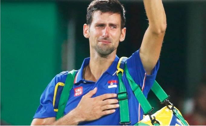 Djokovic nach seiner Niederlage gegen Juan Martin del Potro in Rio 2016.