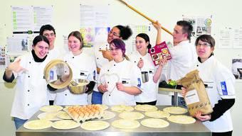 Was haben diese angehenden Bäcker-Konditoren und Konditoren-Confiseure  wohl für die «Creativa» geplant? Foto: Gerry Frei