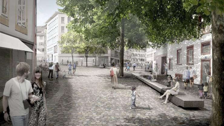 Der Entwurf «Platzlichtung» des Berliner Architektenbüros «Franz Reschke Landschaftsarchitektur».