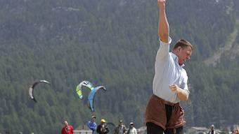 Gastschwinger Matthias Sempach jubelt am Nordostschweizer Fest