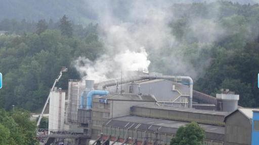 Brand in Stahlwerk in Emmenbrücke