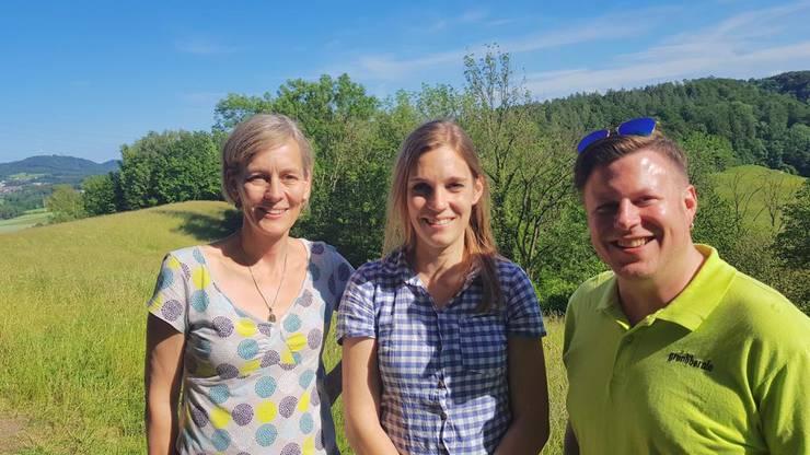 Sonja Gehrig und Beat Rüfenacht, Co-Präsidium GLP Bezirk Dietikon und Corina Gredig, Co-Präsidentin GLP Kt. Zürich