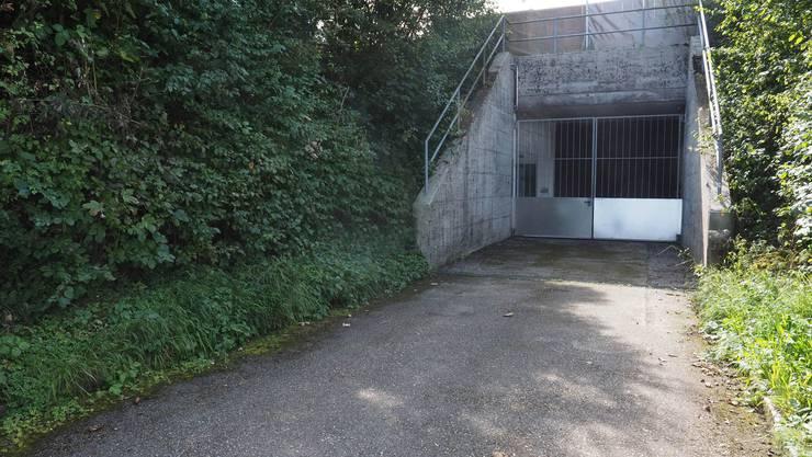 Der Eingang zur Gruppenunterkunft Alst im Gheid Olten.