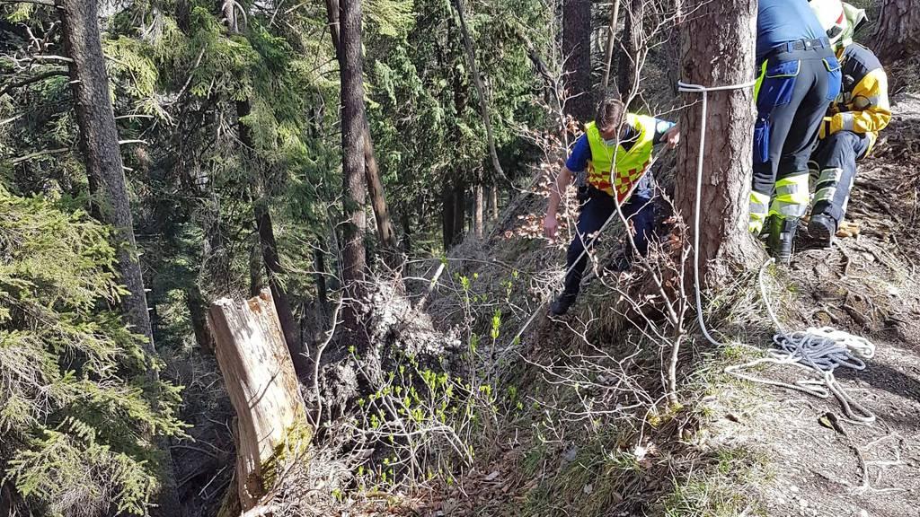 Frau stürzt bei Wanderung 40 Meter Böschung hinunter