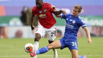 Manchester United mit Aaron Wan-Bissaka (29) war von Leicester nicht mehr zu stoppen