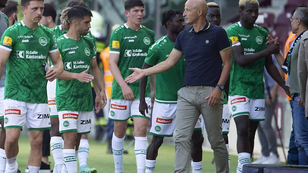 Peter Zeidler und seine Spieler des FC St. Gallen wollen wieder in die Erfolgsspur zurück