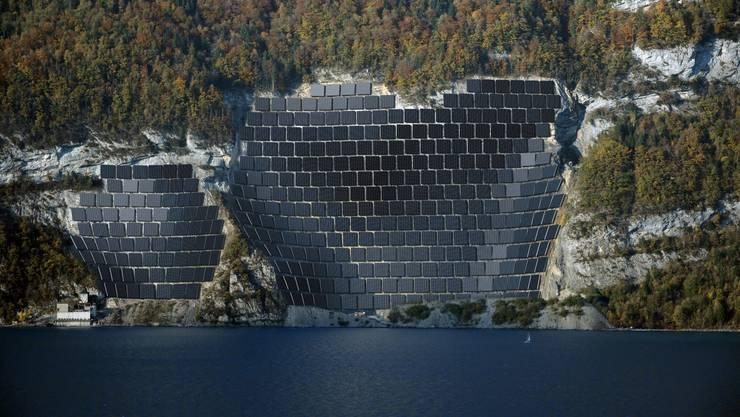 Geplante Solaranlage beim Walensee