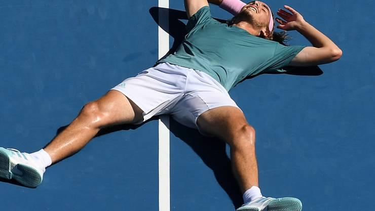 Platt vor Freude: Stefanos Tsitsipas' Siegeszug am Australian Open geht weiter