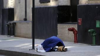 Ein Obdachloser in den USA (Symbolbild)
