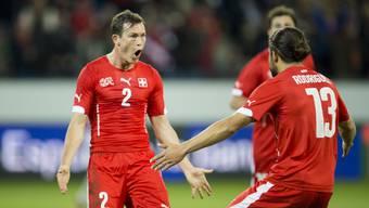 Stephan Lichtsteiner freute sich noch beim Testspiel gegen Peru über seinen Treffer