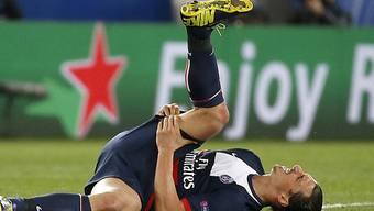 Zlatan Ibrahimovic verletzte sich am Oberschenkel