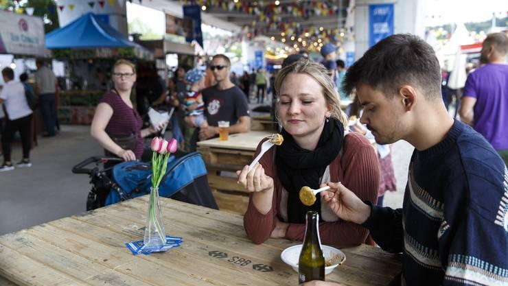 Streetfood-Festival Solothurn. Impressionen vom Freitagabend.