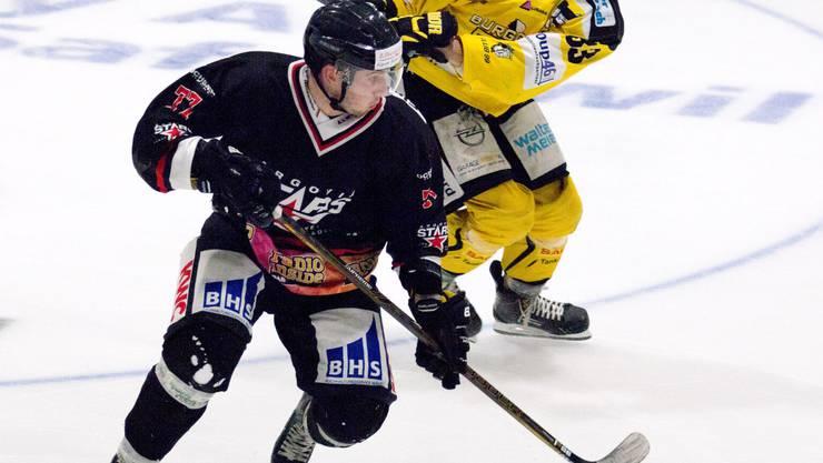 Lukas Leuenberger trifft für die Argovia Stars.