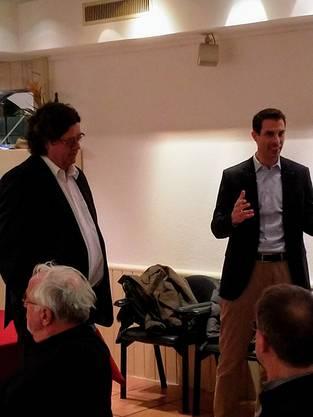 Thierry Burkart bei seiner Rede bei der GV der FDP Ennetbaden
