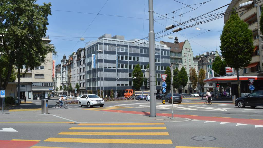 Der Bundesplatz in der Stadt Luzern.