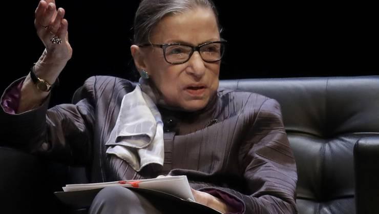 Ist gesundheitlich angeschlagen: Ruth Bader Ginsburg (86), liberale Richterin am obersten Gerichtshof der USA. (Archivbild)