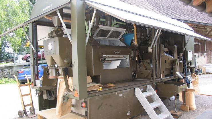 Die mobile Mühle der Schweizer Armee ist ein besonderes Ausstellungsstück.