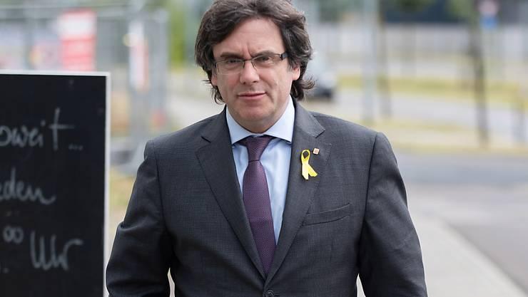 Carles Puigdemont nach einem Treffen mit dem katalanischen Regionalpräsidenten Quim Torra in Berlin am 21. Juni dieses Jahres.
