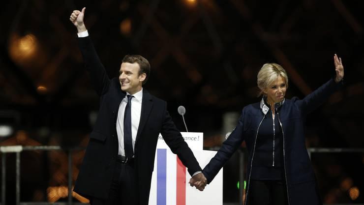 Macron weiss sich zu inszenieren.